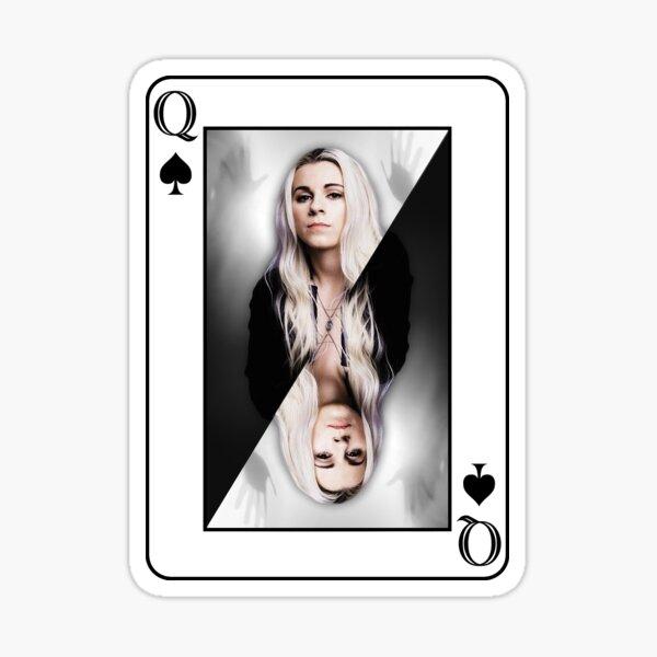 Lynn Gunn of PVRIS playing card Sticker