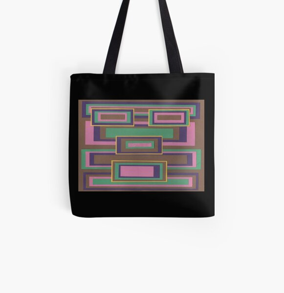 I Hit Big (Facemadics abstract face colorful contemporary) All Over Print Tote Bag