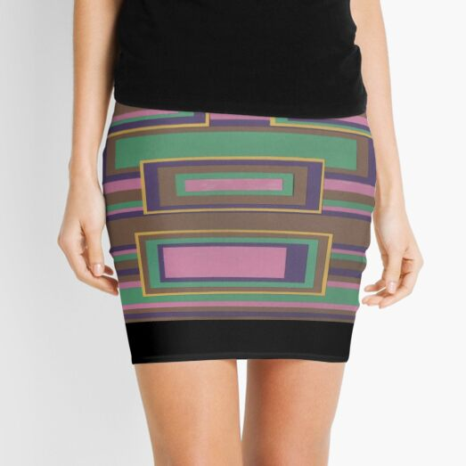 I Hit Big (Facemadics abstract face colorful contemporary) Mini Skirt