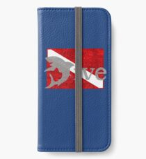 Shark Scuba Dive - Distressed Dive Flag Great White Shark iPhone Wallet/Case/Skin