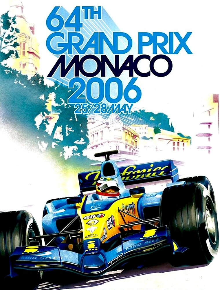 MONACO GRAND PRIX : Vintage Auto Racing Advertising Print\