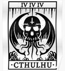 CTHULHU - TAROT CARD - LOVECRAFT Poster