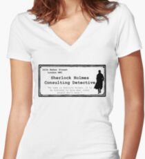 Consulting Women's Fitted V-Neck T-Shirt