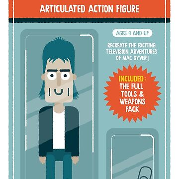 Mac Gyver action figure by alexlaunay