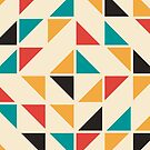 Mid Century Colored Triangles Pattern by colorandpattern