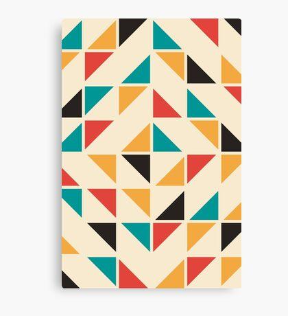 Patrón de triángulos de colores de mediados del siglo Lienzo