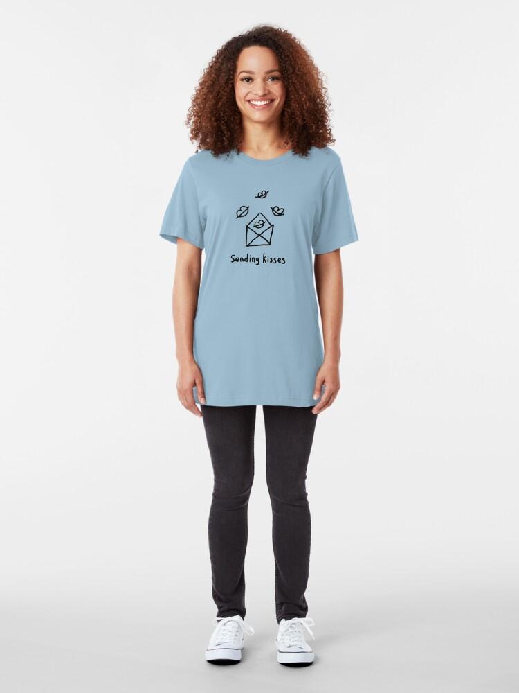 Alternate view of Sending kisses Slim Fit T-Shirt