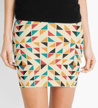 Patrón de triángulos de colores de mediados del siglo Minifalda