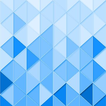 Blue Triangles by muhdzahid