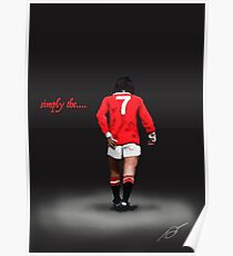 simply the...... Best. George Best Man Utd Legend  Poster