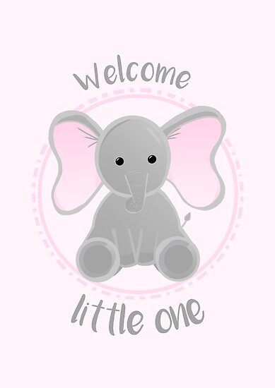 welcome little one new baby girl posters by justthebeginning x