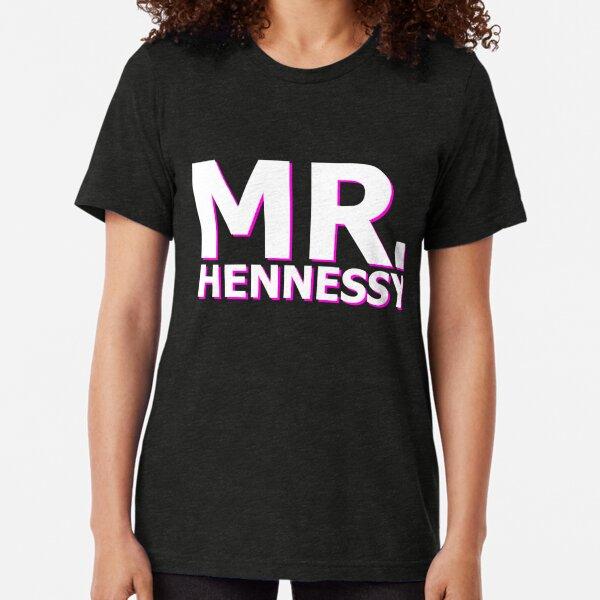 Mr Hennessy Logo Tri-blend T-Shirt