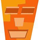 Orange Tripod Repeat (Facemadics) by Facemadics