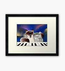 Cats Playing Piano Framed Print