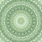 Spring Mandala in Green, Yellow & White by Kelly Dietrich