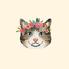 Cat tabby floral crown cute gifts for cat lovers  by PetFriendly