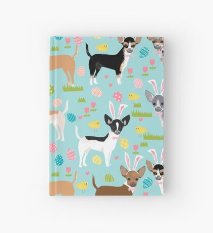 Chihuahua dog breed easter bunny spring easter eggs dog pattern gifts chihuahuas Hardcover Journal