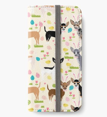 Chihuahua dog breed easter bunny spring easter eggs dog pattern gifts chihuahuas iPhone Wallet