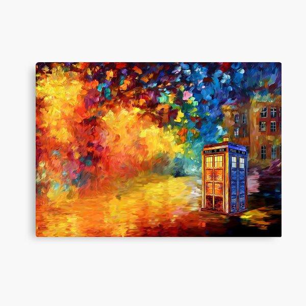 British Police public call box Rainbow abstraction Canvas Print