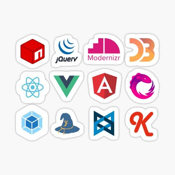 Javascript frameworks and libraries Sticker