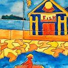 CUTE ROWING FUNNY QUOTE OCEAN ART by Nicola Furlong