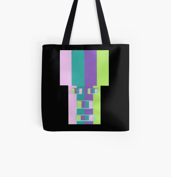 Rainrow Fro (Facemadics abstract face colorful contemporary) All Over Print Tote Bag
