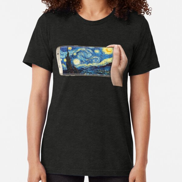 Starry Night - Selfie Tri-blend T-Shirt
