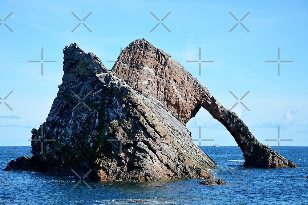 Bow Fiddle Rock and Boat by SiobhanFraser