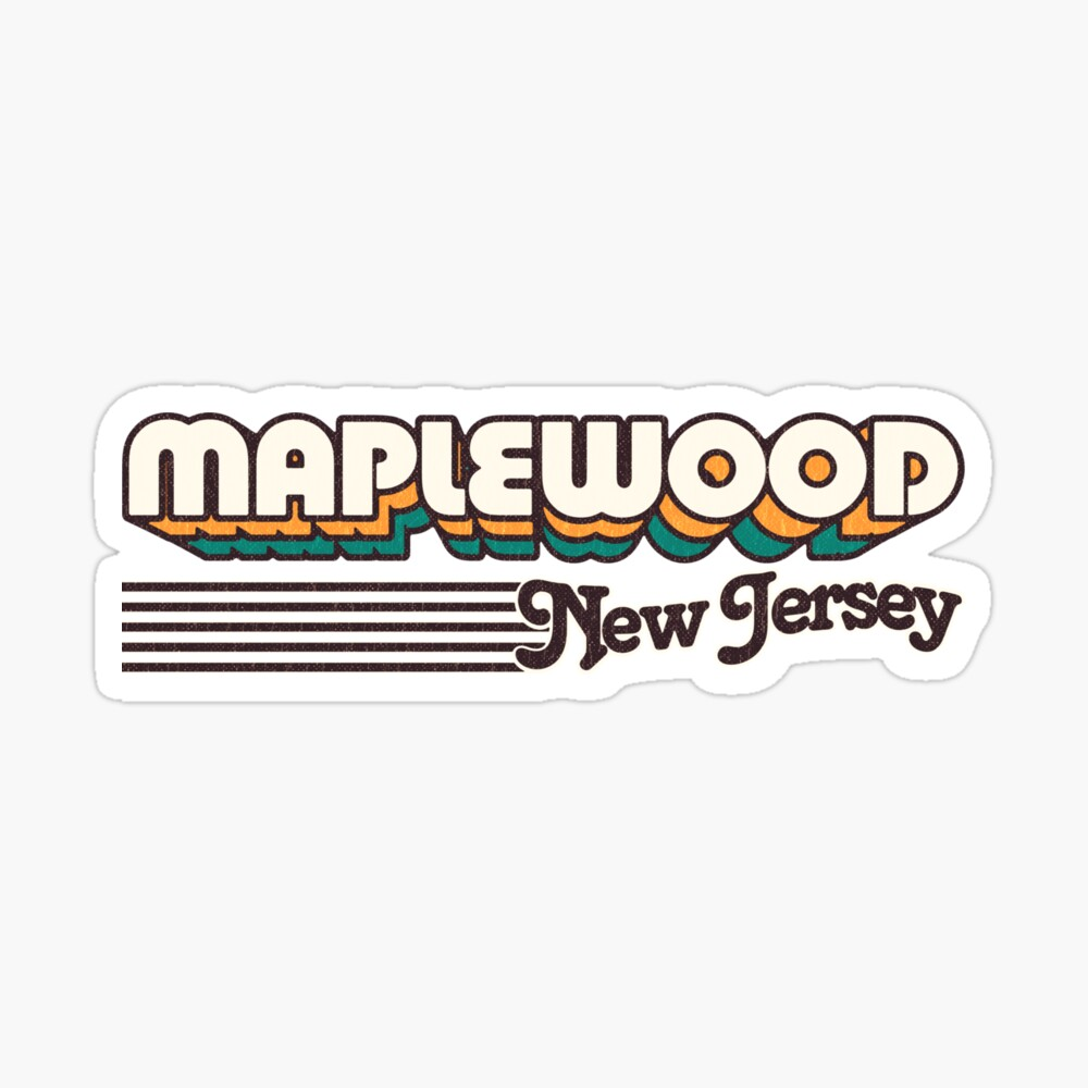 Maplewood, New Jersey | Retro Stripes Sticker
