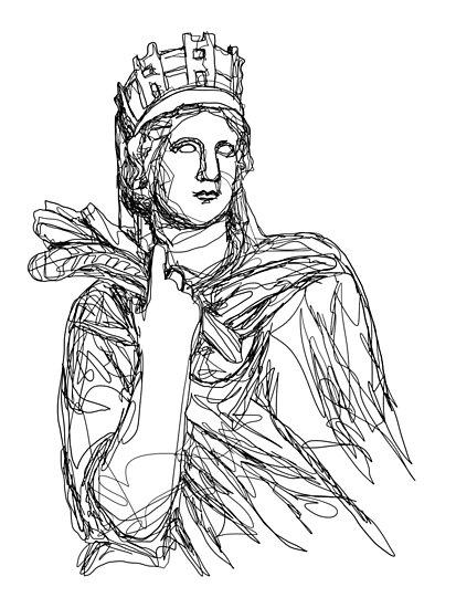 Tyche Greek Goddess Posters By Gatestucker Redbubble