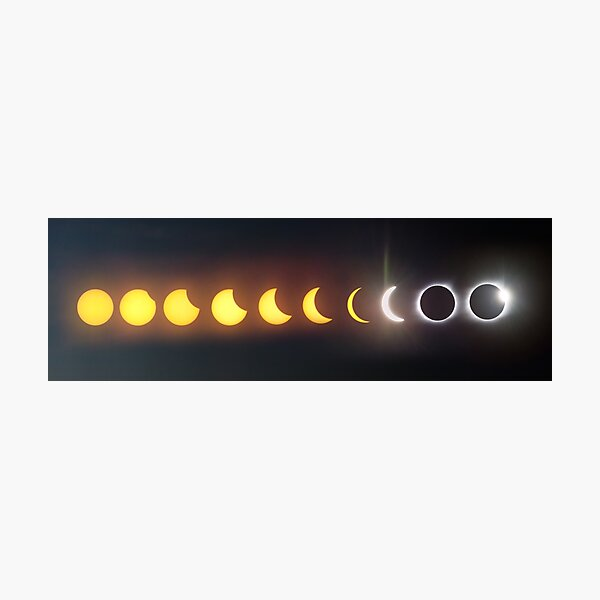 Eclipse 2017 Phases Photographic Print