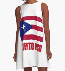 The Pride of Puerto Rico - Puerto Rican Flag Design A-Line Dress