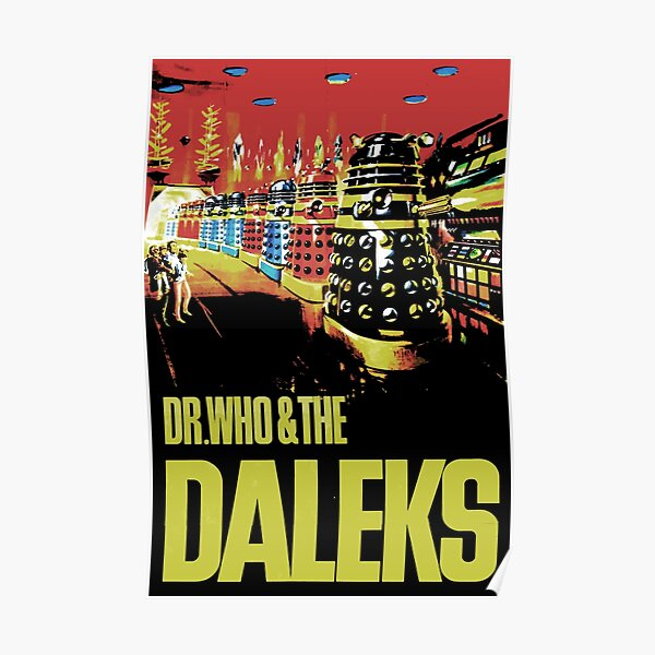 Poster Dr Who and the DALEKS Vintage Cult Sci-Fi Wall Art Print Various Sizes