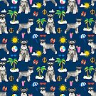Schnauzer dog breed summer tropical dog pattern gifts schnauzers by PetFriendly