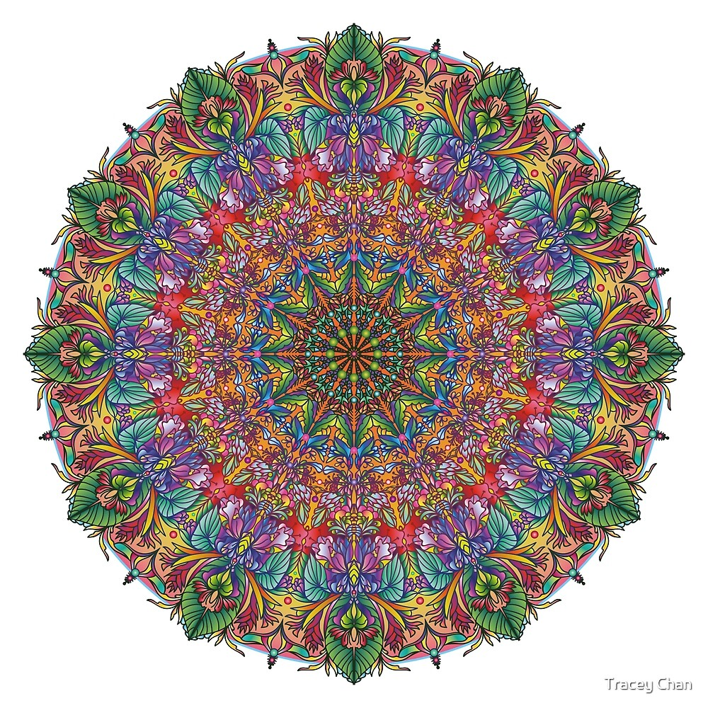 Tropical Mandala by Tracey Chan