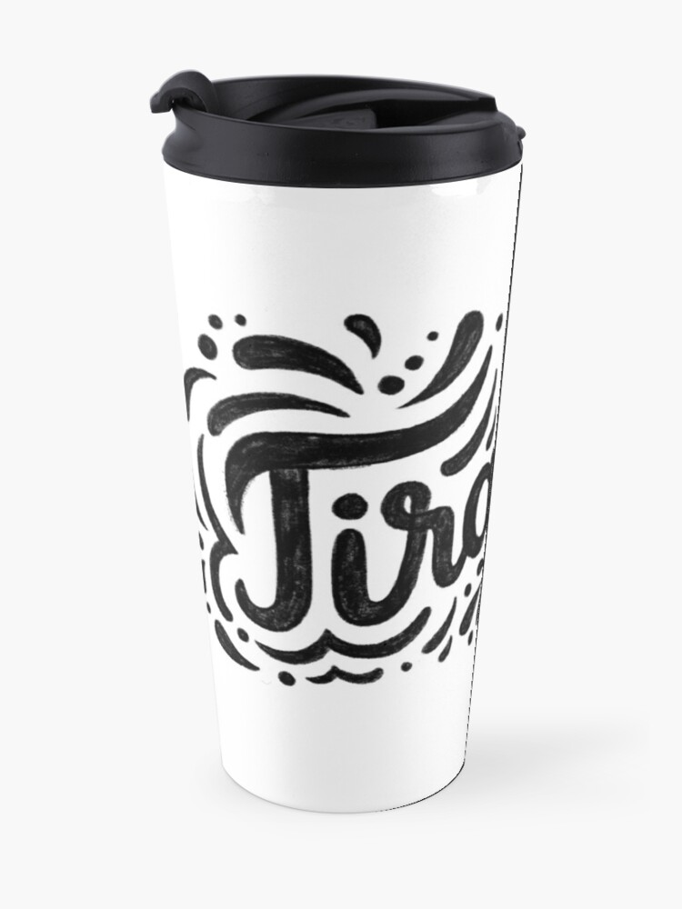 Alternate view of Tiramisu is like a hug - Hand calligraphy art Travel Mug