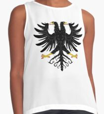 Double-headed eagle, emblem, coat of arms, symbol, sign,  eagle, carnival, holiday, carnival costume, Purim Contrast Tank