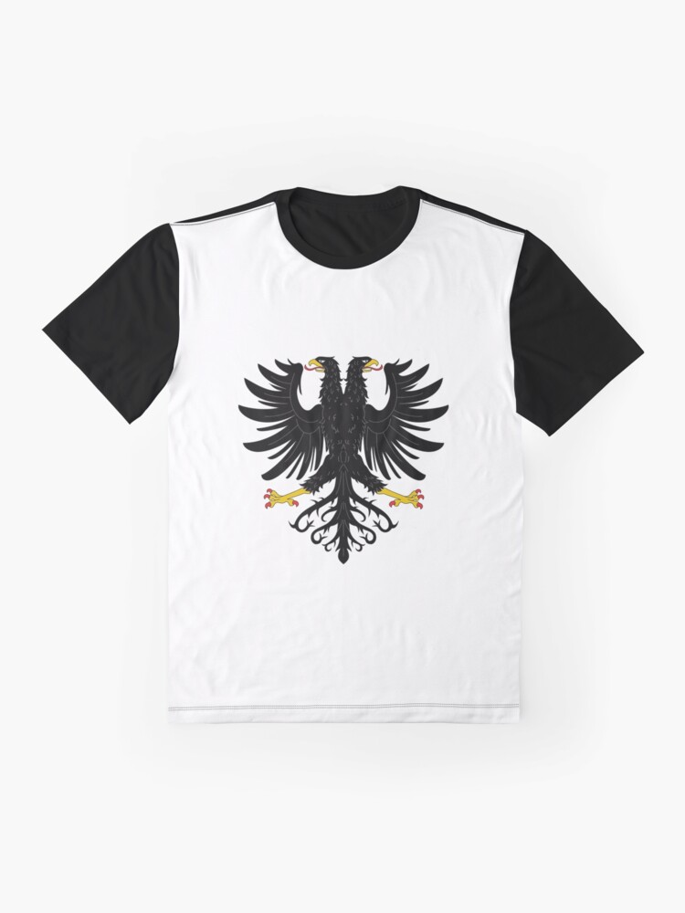 Alternate view of Double-headed eagle, emblem, coat of arms, symbol, sign,  eagle, carnival, holiday, carnival costume, Purim Graphic T-Shirt