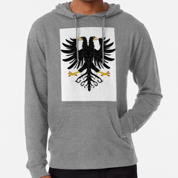 Double-headed eagle, emblem, coat of arms, symbol, sign,  eagle, carnival, holiday, carnival costume, Purim Lightweight Hoodie
