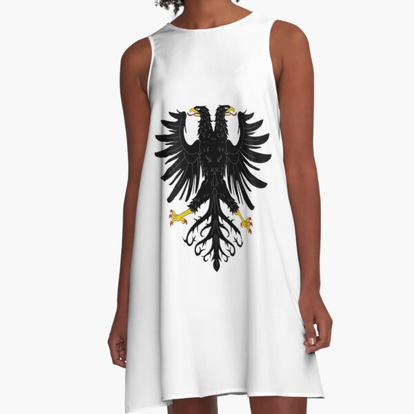 Double-headed eagle, emblem, coat of arms, symbol, sign,  eagle, carnival, holiday, carnival costume, Purim A-Line Dress