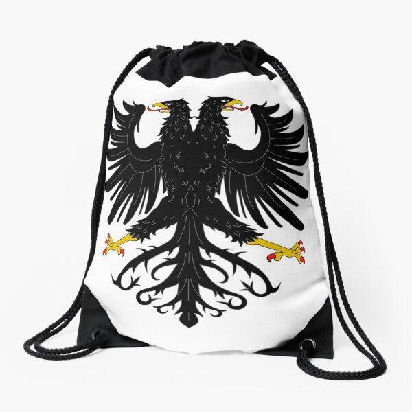 Double-headed eagle, emblem, coat of arms, symbol, sign,  eagle, carnival, holiday, carnival costume, Purim Drawstring Bag