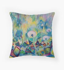 Dandelions Abstract Patterns Throw Pillow