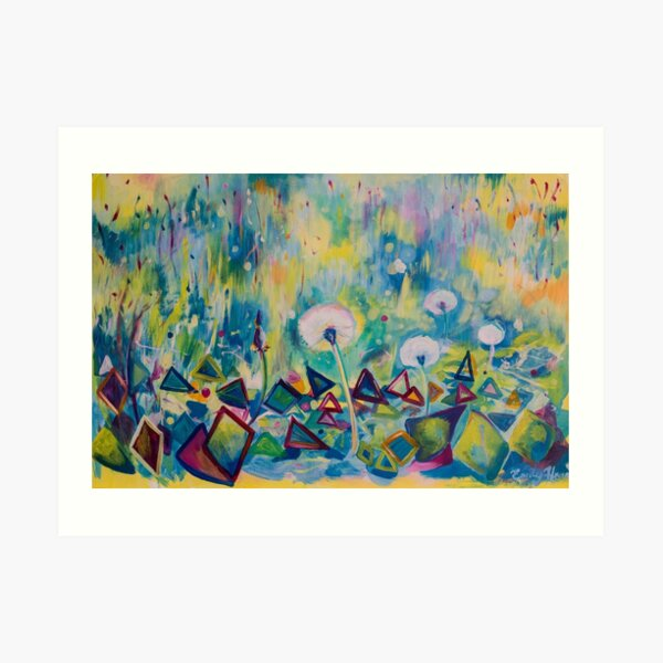Dandelions Abstract Patterns Art Print