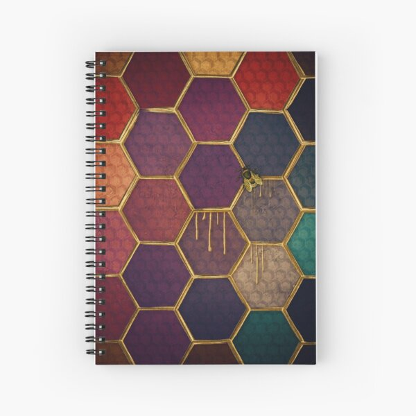 Nectar and Bees Spiral Notebook