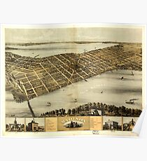 Panoramic Maps Madison Wisconsin 1867 Poster