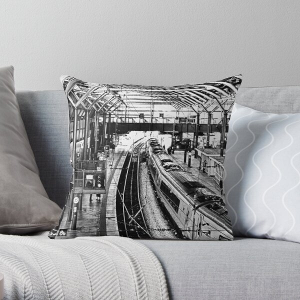 Leeds Station Throw Pillow