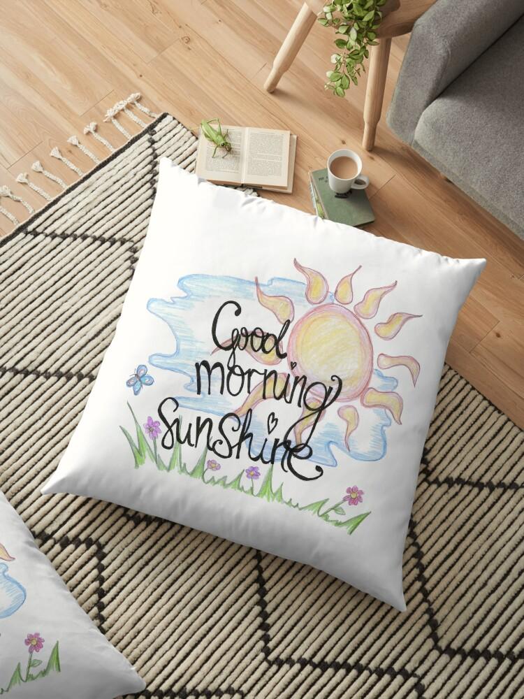 Good Morning Sunshine Beautiful Woman Inspiration Quotes Floor
