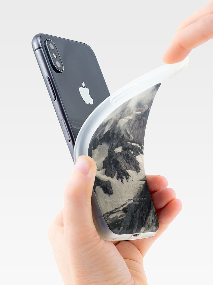 Alternate view of Mount St Helens lava dome closeup iPhone Case & Cover