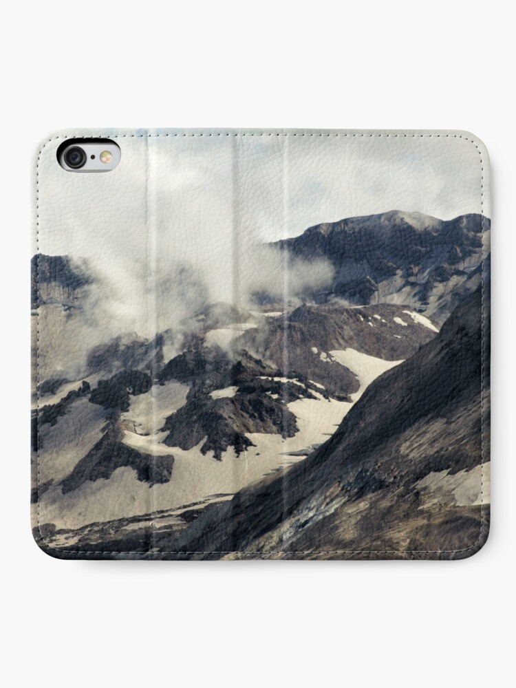 Alternate view of Mount St Helens lava dome closeup iPhone Wallet