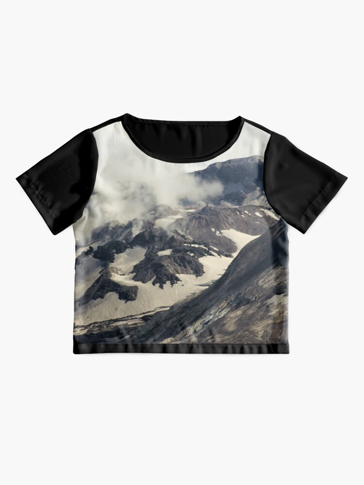 Alternate view of Mount St Helens lava dome closeup Chiffon Top